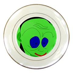 Alien by Moma Porcelain Plates by Valentinaart