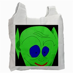 Alien By Moma Recycle Bag (two Side)  by Valentinaart
