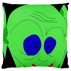 Alien By Moma Large Cushion Case (one Side) by Valentinaart