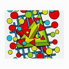 Crazy Geometric Art Small Glasses Cloth by Valentinaart