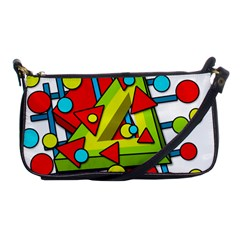 Crazy Geometric Art Shoulder Clutch Bags by Valentinaart
