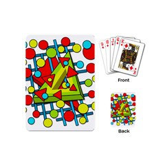 Crazy Geometric Art Playing Cards (mini)  by Valentinaart