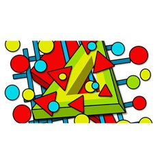 Crazy Geometric Art You Are Invited 3d Greeting Card (8x4) by Valentinaart