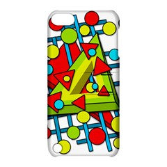 Crazy Geometric Art Apple Ipod Touch 5 Hardshell Case With Stand by Valentinaart