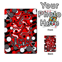 Red Mess Playing Cards 54 Designs  by Valentinaart