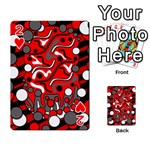 Red mess Playing Cards 54 Designs  Front - Heart2