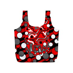 Red Mess Full Print Recycle Bags (s)  by Valentinaart