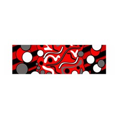Red Mess Satin Scarf (oblong) by Valentinaart