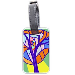 Decorative Tree 4 Luggage Tags (two Sides) by Valentinaart