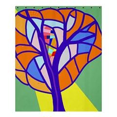 Decorative Tree 4 Shower Curtain 60  X 72  (medium)  by Valentinaart