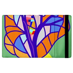 Decorative Tree 4 Apple Ipad 2 Flip Case by Valentinaart