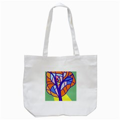 Decorative Tree 4 Tote Bag (white) by Valentinaart