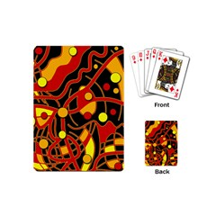 Orange floating Playing Cards (Mini)  by Valentinaart