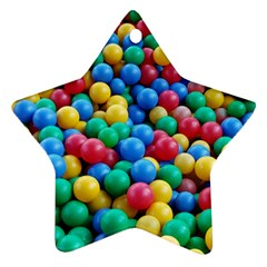 Funny Colorful Red Yellow Green Blue Kids Play Balls Ornament (star)  by yoursparklingshop