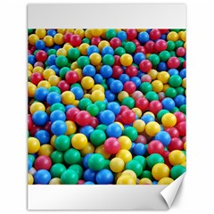 Funny Colorful Red Yellow Green Blue Kids Play Balls Canvas 12  X 16   by yoursparklingshop