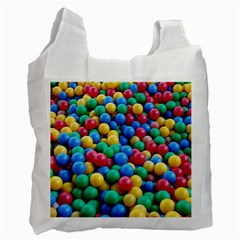 Funny Colorful Red Yellow Green Blue Kids Play Balls Recycle Bag (two Side)  by yoursparklingshop