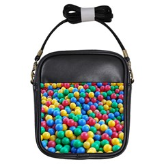 Funny Colorful Red Yellow Green Blue Kids Play Balls Girls Sling Bags by yoursparklingshop