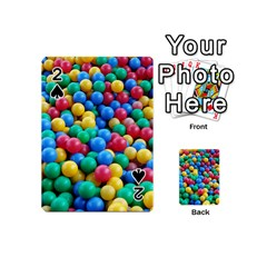 Funny Colorful Red Yellow Green Blue Kids Play Balls Playing Cards 54 (mini)  by yoursparklingshop