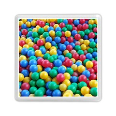 Funny Colorful Red Yellow Green Blue Kids Play Balls Memory Card Reader (square)  by yoursparklingshop