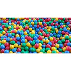 Funny Colorful Red Yellow Green Blue Kids Play Balls You Are Invited 3d Greeting Card (8x4)