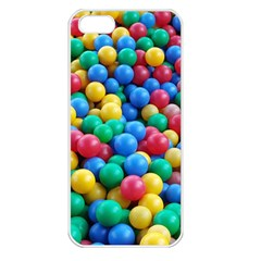Funny Colorful Red Yellow Green Blue Kids Play Balls Apple Iphone 5 Seamless Case (white) by yoursparklingshop
