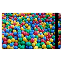 Funny Colorful Red Yellow Green Blue Kids Play Balls Apple Ipad 3/4 Flip Case by yoursparklingshop