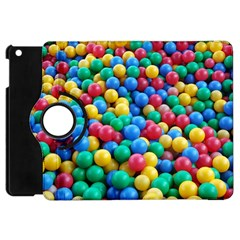 Funny Colorful Red Yellow Green Blue Kids Play Balls Apple Ipad Mini Flip 360 Case by yoursparklingshop