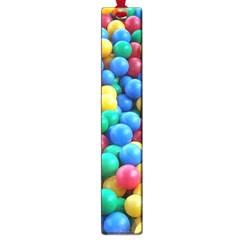 Funny Colorful Red Yellow Green Blue Kids Play Balls Large Book Marks by yoursparklingshop