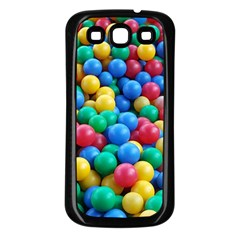 Funny Colorful Red Yellow Green Blue Kids Play Balls Samsung Galaxy S3 Back Case (black) by yoursparklingshop