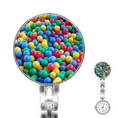 Funny Colorful Red Yellow Green Blue Kids Play Balls Stainless Steel Nurses Watch by yoursparklingshop