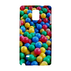 Funny Colorful Red Yellow Green Blue Kids Play Balls Samsung Galaxy Note 4 Hardshell Case by yoursparklingshop