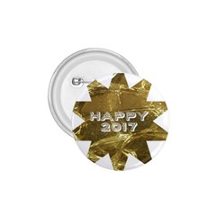 Happy New Year 2017 Gold White Star 1 75  Buttons by yoursparklingshop