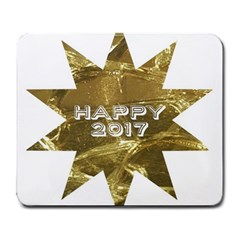 Happy New Year 2017 Gold White Star Large Mousepads by yoursparklingshop