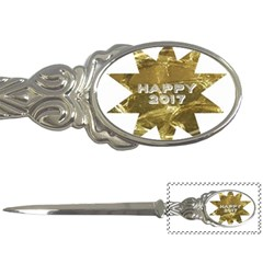 Happy New Year 2017 Gold White Star Letter Openers by yoursparklingshop