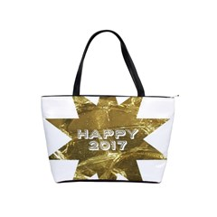 Happy New Year 2017 Gold White Star Shoulder Handbags by yoursparklingshop