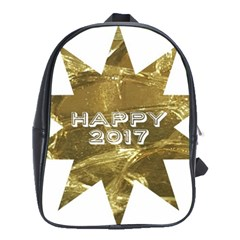 Happy New Year 2017 Gold White Star School Bags(large)  by yoursparklingshop
