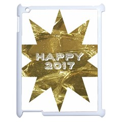 Happy New Year 2017 Gold White Star Apple Ipad 2 Case (white) by yoursparklingshop