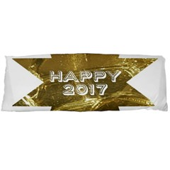 Happy New Year 2017 Gold White Star Body Pillow Case (dakimakura) by yoursparklingshop