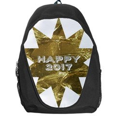 Happy New Year 2017 Gold White Star Backpack Bag by yoursparklingshop