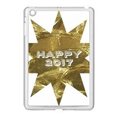Happy New Year 2017 Gold White Star Apple Ipad Mini Case (white) by yoursparklingshop