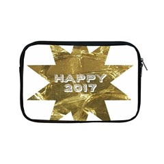 Happy New Year 2017 Gold White Star Apple Ipad Mini Zipper Cases by yoursparklingshop