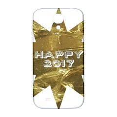 Happy New Year 2017 Gold White Star Samsung Galaxy S4 I9500/i9505  Hardshell Back Case by yoursparklingshop