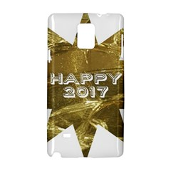 Happy New Year 2017 Gold White Star Samsung Galaxy Note 4 Hardshell Case by yoursparklingshop