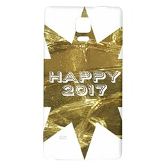 Happy New Year 2017 Gold White Star Galaxy Note 4 Back Case by yoursparklingshop