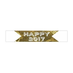 Happy New Year 2017 Gold White Star Flano Scarf (mini) by yoursparklingshop