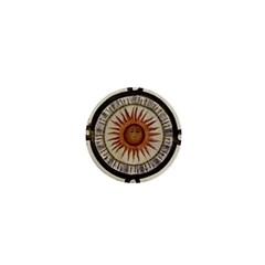 Ancient Aztec Sun Calendar 1790 Vintage Drawing 1  Mini Buttons by yoursparklingshop