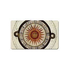 Ancient Aztec Sun Calendar 1790 Vintage Drawing Magnet (name Card) by yoursparklingshop