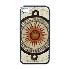 Ancient Aztec Sun Calendar 1790 Vintage Drawing Apple Iphone 4 Case (black) by yoursparklingshop