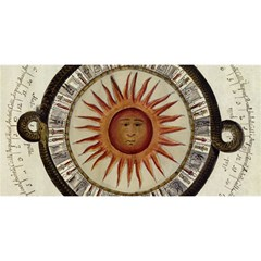 Ancient Aztec Sun Calendar 1790 Vintage Drawing You Are Invited 3d Greeting Card (8x4) by yoursparklingshop