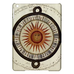 Ancient Aztec Sun Calendar 1790 Vintage Drawing Ipad Air Hardshell Cases by yoursparklingshop